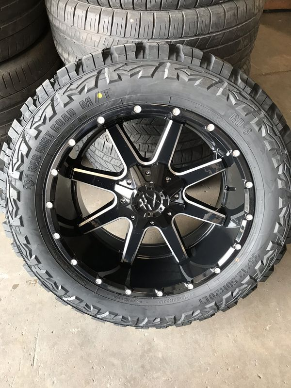 Off Road Tires For Sale >> 20x10 Off Road Rims On 33s Mt Tires 1550 For Sale In Houston Tx Offerup