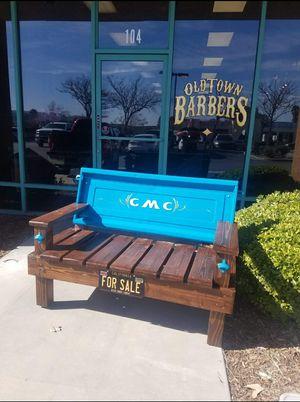 Photo Custom made GMC truck tailgate bench