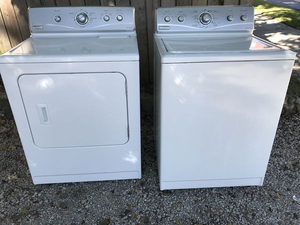 Clean White and Stainless Steel Maytag washer and electric dryer for Sale  in Fort Wayne, IN - OfferUp
