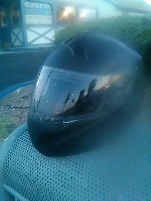 Photo HCI FLAT BLACK MOTORCYCLE HELMET