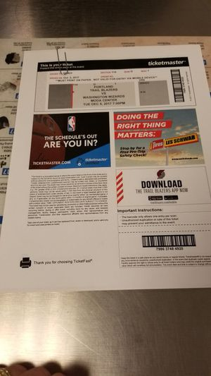 Blazers tickets for Sale in Portland, OR