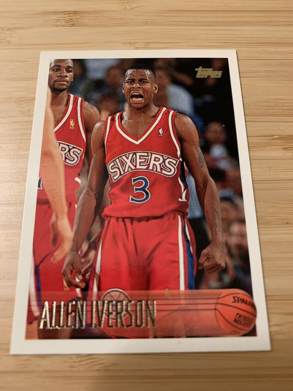 official photos 004f3 bd263 Allen Iverson Rookie Card 1996 Topps #171 for Sale in San Francisco, CA -  OfferUp