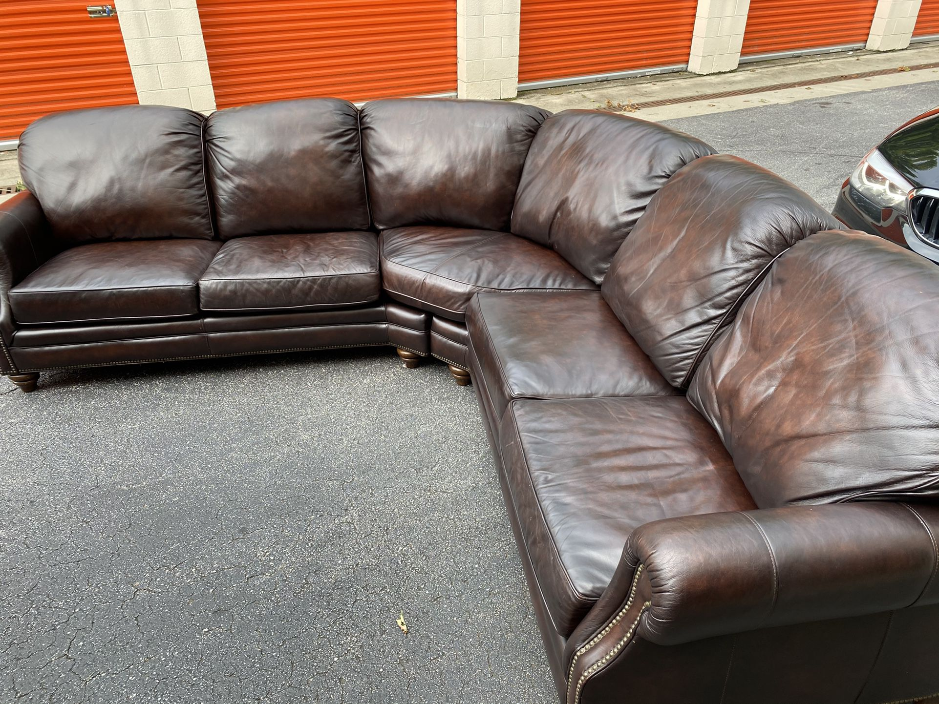 Drexel Heritage Leather Sectional