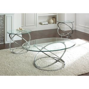 Ashley Furniture set of 3 glass tables for Sale in Chevy Chase, MD