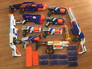 Nerf gun lot with lots of ammo for Sale in Morgan Hill, CA