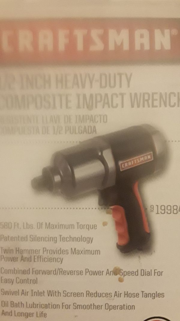 Brand New Craftsman 1 2 Inch Heavy Duty Composite Impact Wrench