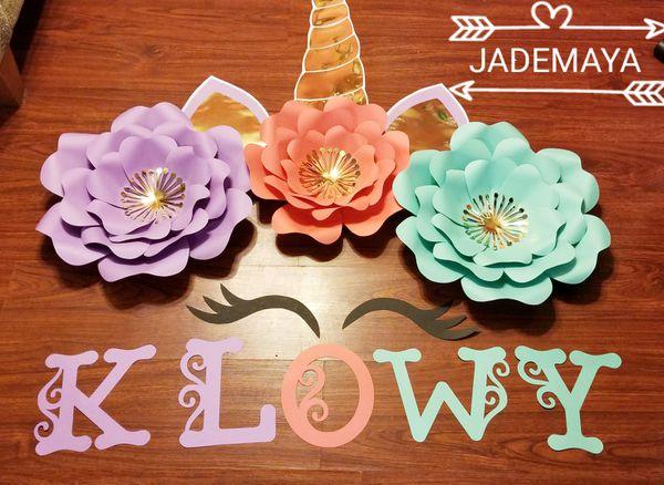 Unicornio Set Flores De Papel For Sale In Dallas Tx Offerup