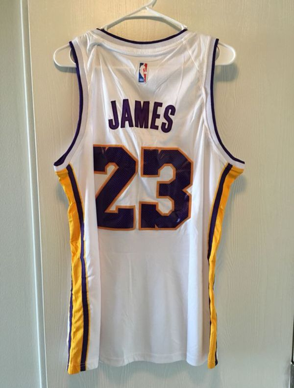 e6618291215 Authentic LeBron James  23 LA Lakers Jersey Nike Dry Sz 50 Large for ...