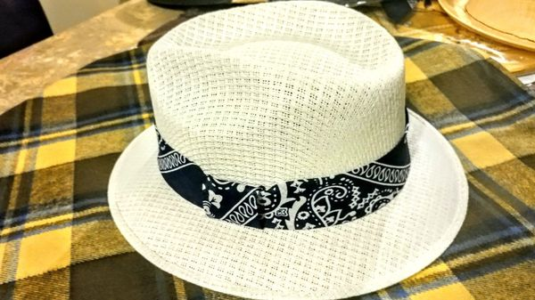 Bandana Pachuco Hat Fedora lowrider style for Sale in Bakersfield ... 71b0135eafe