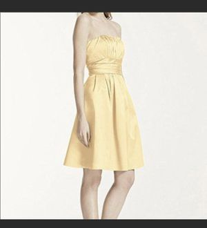 David's Bridal size 4 Yellow Bridesmaid Dress for Sale in Chesterfield, VA