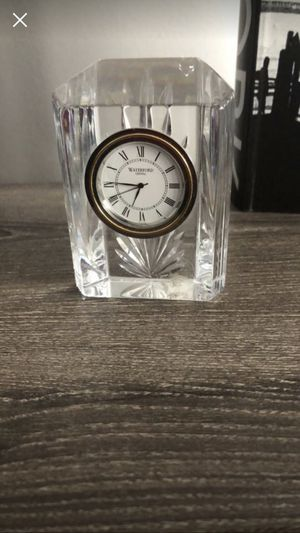 Antique Waterford Colonnade Small Crystal Clock for Sale in Santa Clarita, CA