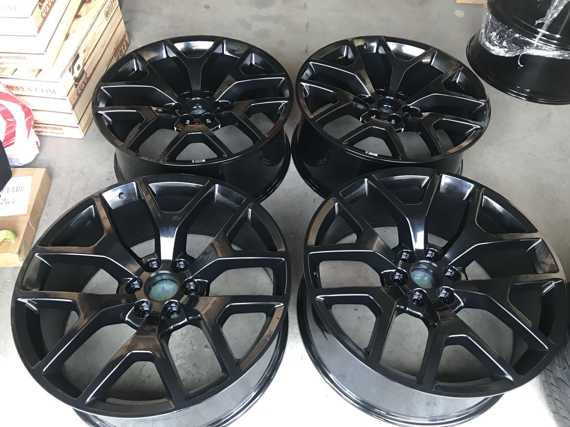 12 inch black Chevy gmc Cadillac Denali wheels rims stock truck ...