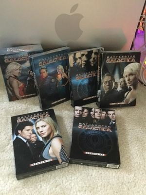 Battlestar Galactica from Season 1 / 2 / 2.5 / 3 / 4 / 4.5 MOVIES * Science - Fi films 6 Boxes 📀 DVD for Sale in Alexandria, VA
