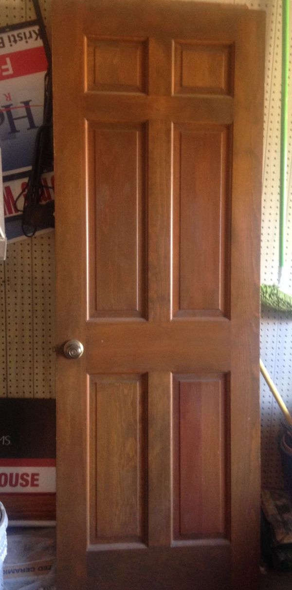 2 Solid Oak 6 Panel Doors