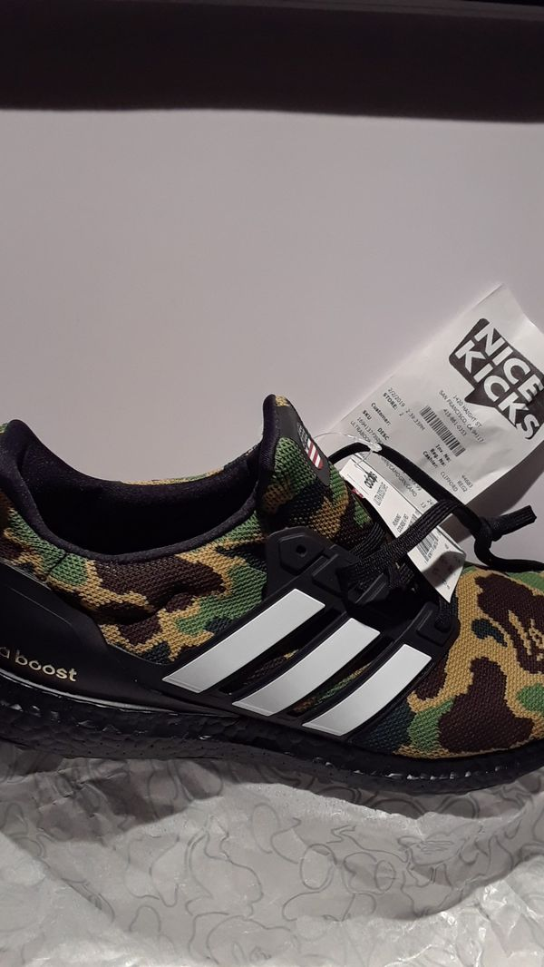 sale retailer 791d3 bff8d Adidas ultra boost bape for Sale in Hayward, CA - OfferUp