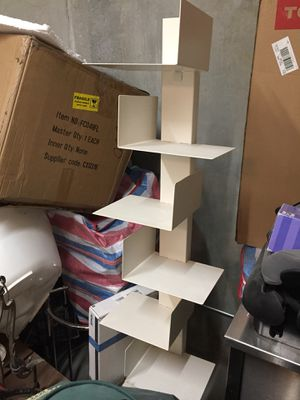 White Asymmetrical Book/Magazine Tower for Sale in San Francisco, CA