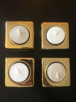 Set of 4 gold votives for Sale in Denver, CO