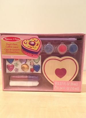 NEW in box Melissa & Doug paint your own wooden heart box for Sale in Alexandria, VA