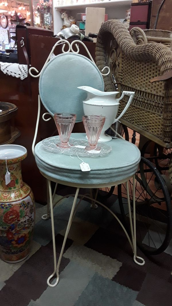 Vintage Wrought Iron Vanity Chair For Sale In Shelton Wa
