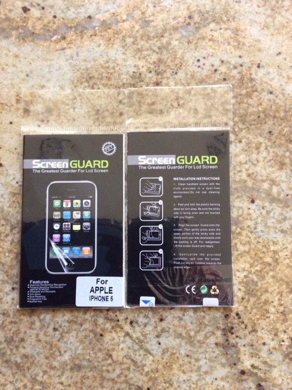 Plastic Screen Protectors for iPhone 5, 5S, 5C or SE