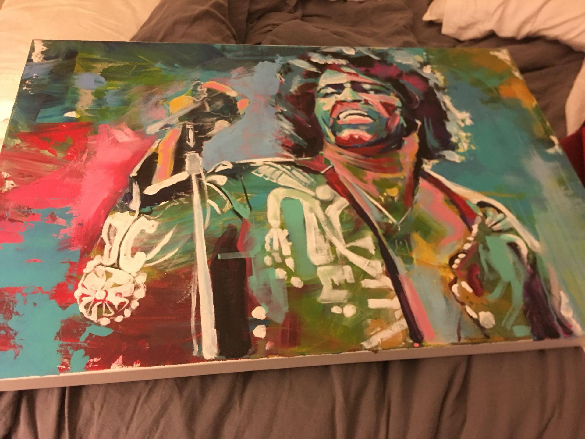 James Brown Painting