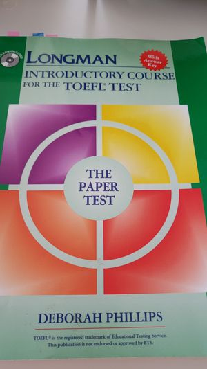 Longman Introductory Course for TOEFL Test, The Paper Test (Book with CD-ROM, with Answer Key) Edition for Sale in Detroit, MI