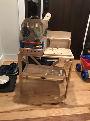 Kids wood workbench and tools for Sale in Fort Hunt, VA