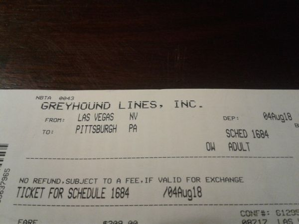 Greyhound ticket for Sale in Las Vegas, NV - OfferUp