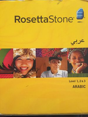 Rosetta Stone Arabic Level 1-3 for Sale in San Diego, CA