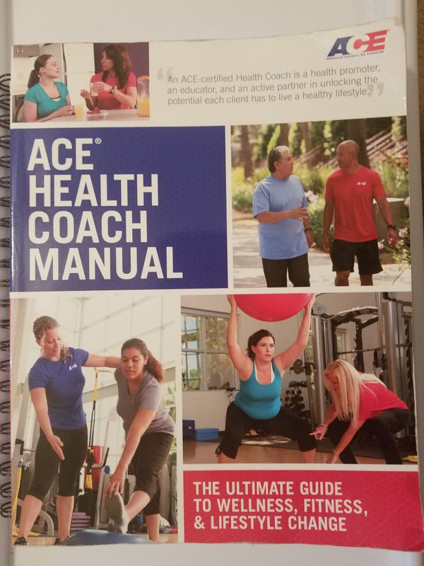 Ace Health Coach Certification Books Like New For Sale In San