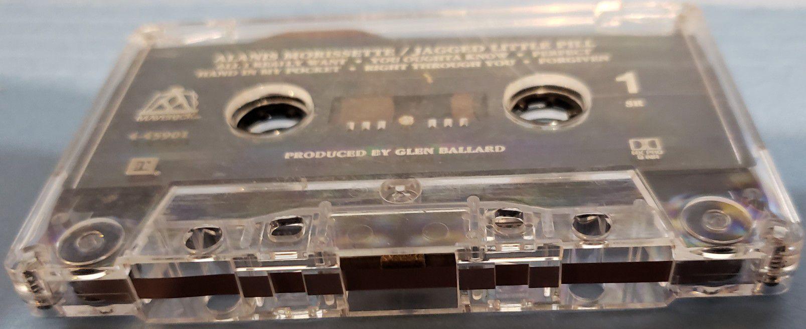 VINTAGE COLLECTABLE MUSIC CASSETTE TAPE ALANIS MORISSETTE JAGGED LITTLE PILL
