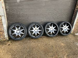 22s inch staggered forgiato rims 9 inch lip for the front 2 tires and 10.5 lip for the 2 rear tires for Sale in Bethesda, MD