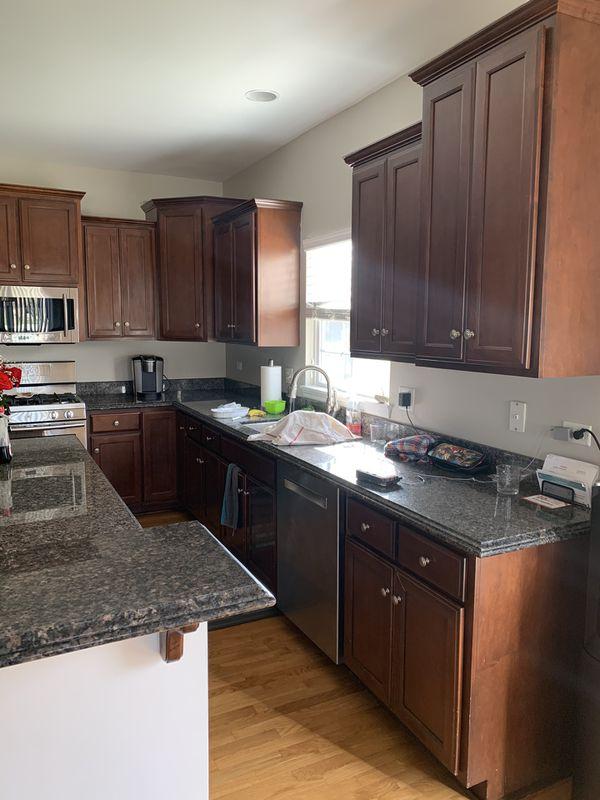 Used Kitchen Cabinets Illinois - Dark Cherry Kitchen ...