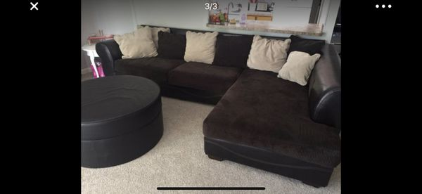 Brown Corduroy Sectional Sofa for Sale in Wheat Ridge, CO - OfferUp