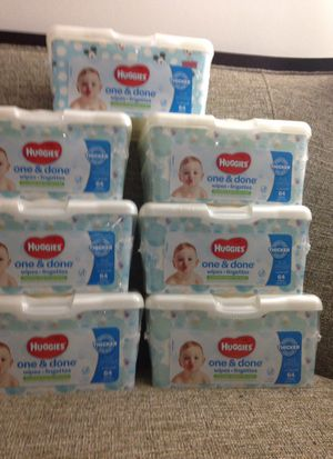 # 7 Packs of Huggies Wipes. Please See All The Pictures and Read the description for Sale in Arlington, VA