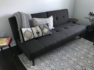 Charcoal Gray Collapsible Sofa for Sale in Youngsville, NC