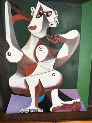 "Picasso,Woman dressing her hair. ""John Armenta "" oil on canvas copy.... for Sale in Seattle, WA"