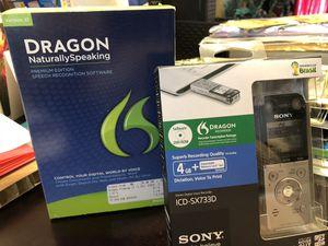 Dragon Naturally speaking & Dragon Recorder 4 GB + for Sale in Auburn, WA