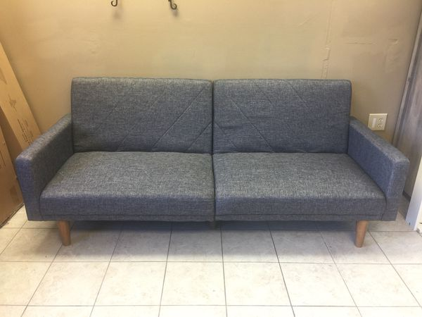 New Linen Futon With Mid Century Style Gray For In Columbia Sc Offerup