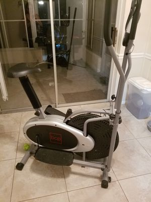 BEST CHOICE PRODUCTS ELLIPTICAL 2-IN -1 BIKE AND CROSS TRAINER EXERCISE MACHINE WITH LCD SCREEN for Sale in Boca Raton, FL