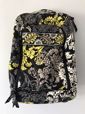Photo Vera Bradley Campus Backpack Floral Flowers Yellow, Black EXCELLENT CONDITION