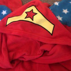 Wonder Woman Costume Onesie With Headband Thumbnail