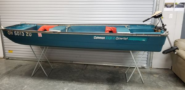 Coleman Crawdad 11' Plastic Jon Boat & Motor for Sale in Westerville, OH -  OfferUp