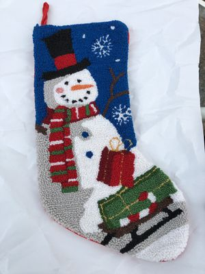 Snowman Collectors! New! Christmas Stocking/Macy's ~Reduced for sale  Tulsa, OK
