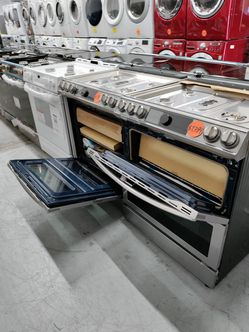 Samsung Double Oven Smart Dial Gas Stove, New Scratch And Dent Thumbnail