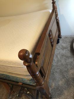Full size bed frame. Thumbnail