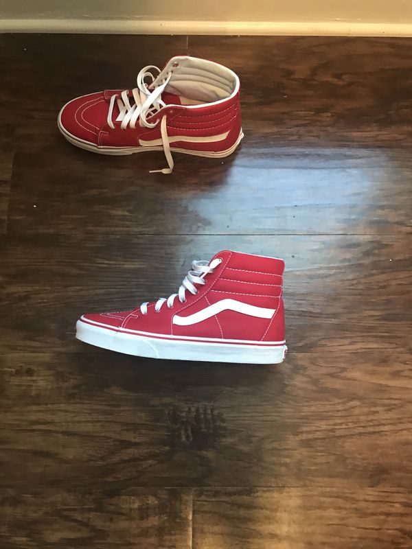 8503d7e44697b3 Red vans size 8 1 2 for Sale in Jacksonville
