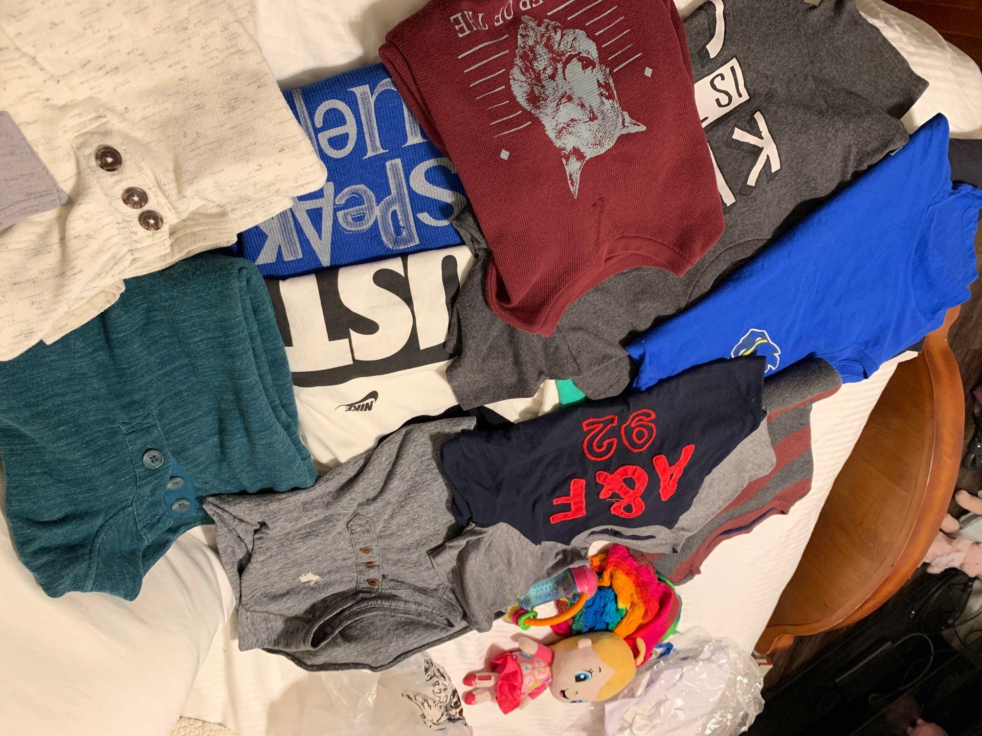 Boys shirts/ long sleeve 10-12 M