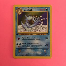 1st Edition Golduck 35/62 Pokemon Card from the Fossil Set Thumbnail