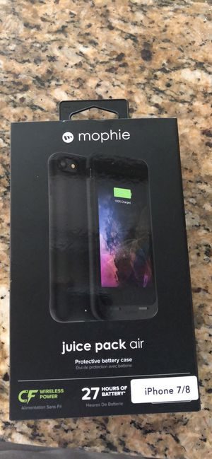 Mophie battery charging case like new iPhone 7/8 for Sale in Gainesville, VA